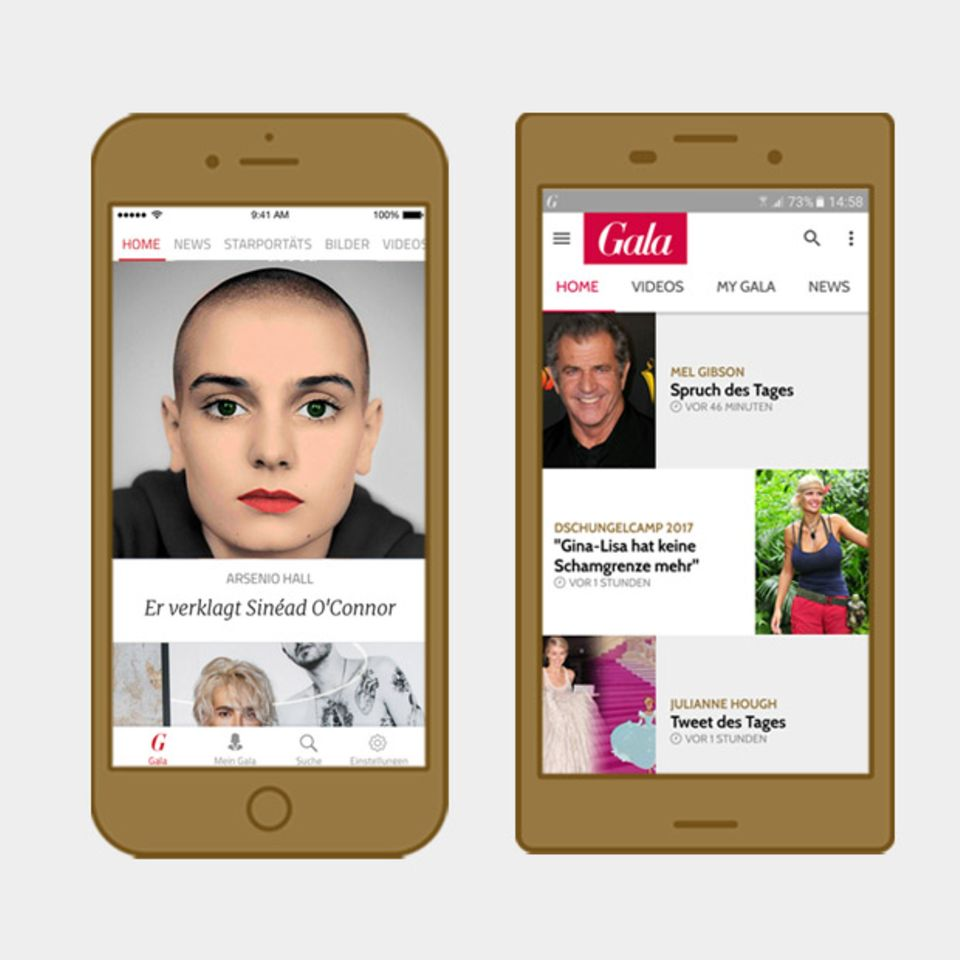 iOS + Android: Gala Starnews-Apps für iOS und Android