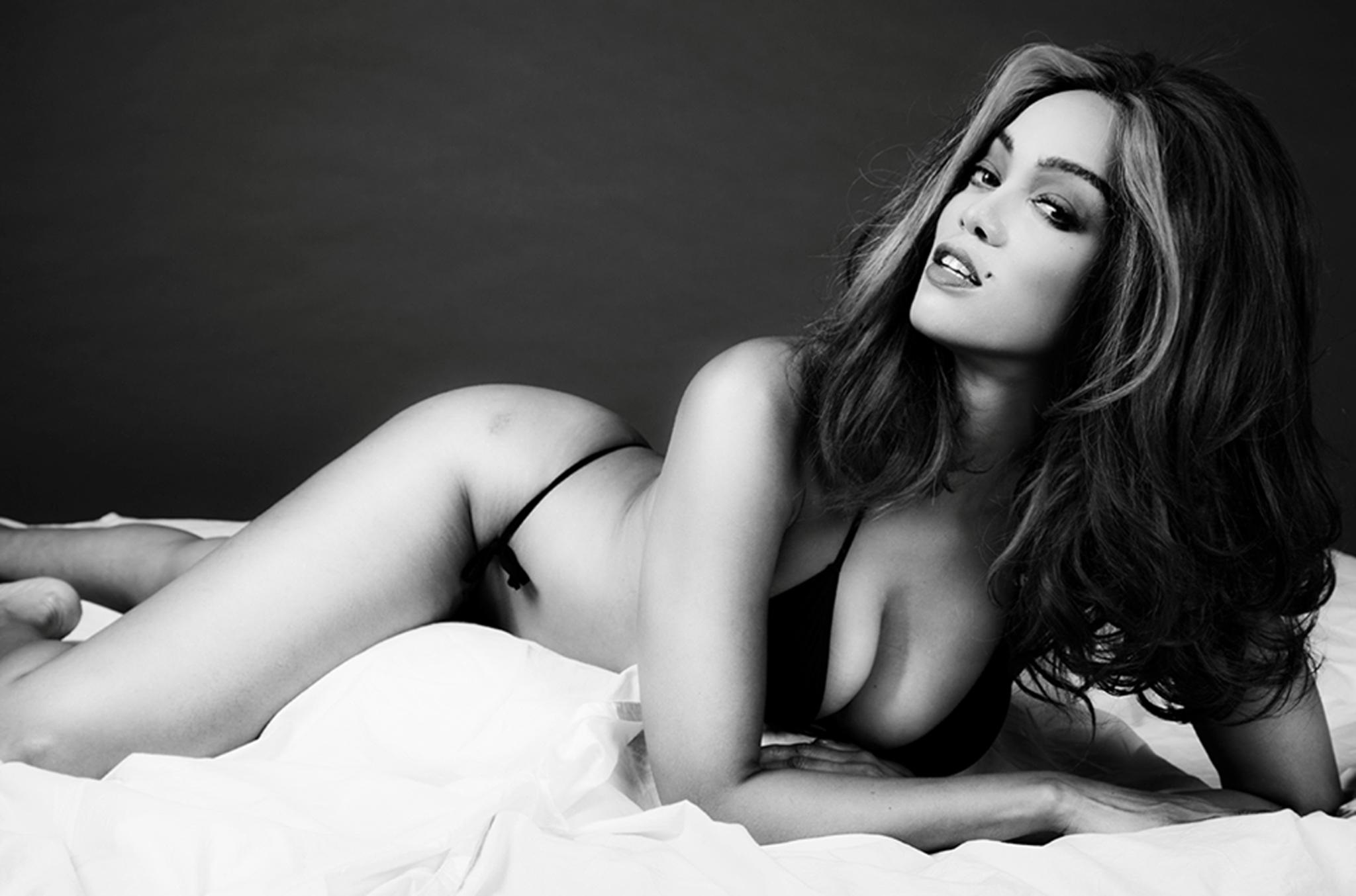 """""""Es war unglaublich, mich körperlich in mein Idol zu verwandeln"""", schrieb das Model auf """"Facebook""""."""
