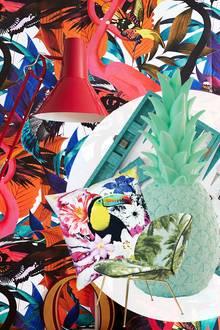 Knallig-bunte Wandbilder wie das von Andy Palmar bringen Urlaubsstimmung ins Haus