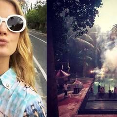 """Model Constance Jablonski teilt ein stimmungsvolles Foto aus Bali und schreibt dazu: """"Happy new Year, Welt! Möge 2017 jedem Frieden, Respekt und Liebe bringen!"""""""