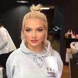 Ganz ohne Perrücke oder Extensions aber mit perfektem Make-Up präsentiert sich Shirin vor einem Shooting.