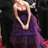 """Michelle Williams war 2006 für """"Brokeback Mountain"""" nominiert und bezauberte noch etwas unsicher in blumenhaftem Layer-Look."""