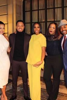 """""""Letzte Nacht im Weißen Haus"""": Sängerin La La Anthony posiert unter anderem mit Terrence J, Kelly Rowland und Rapper Wale für ein Gruppenfoto."""