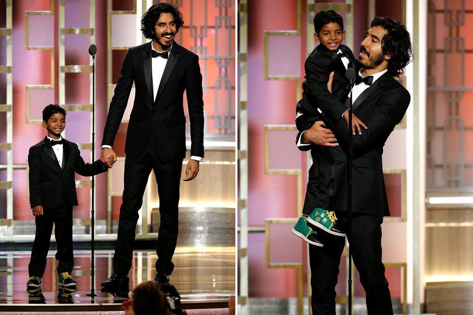 """Die """"Lion""""-Stars Sunny Pawar und Dev Patel verzücken die Zuschauer."""