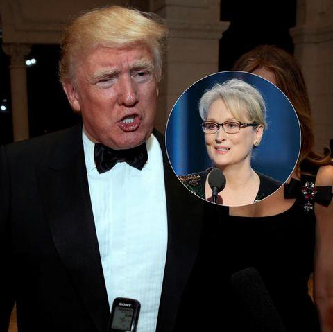 Donald Trump, Meryl Streep