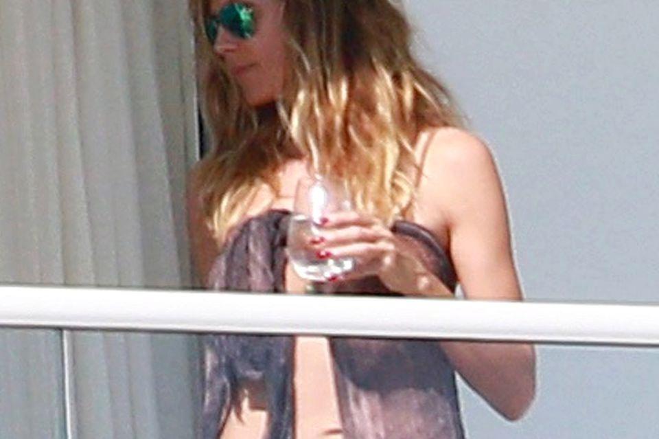 """Noch wenige Tage vor den """"Golden Globes"""" sonnte sich Heidi in Miami."""