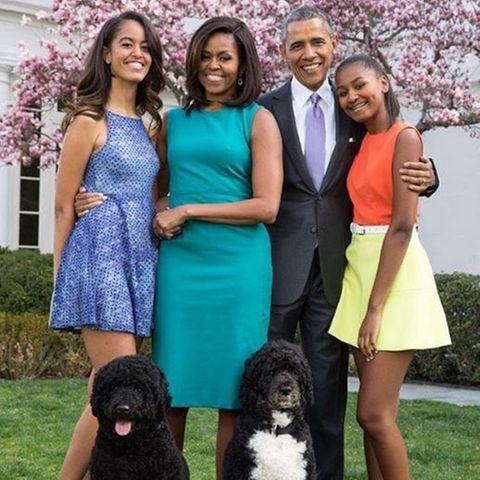 Malia Obama, Michelle Obama, Barack Obama Sasha Obama