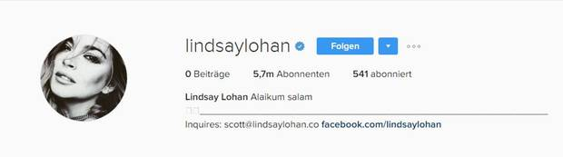 Lindsay Lohans Instagram Post