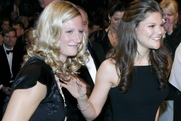 Carolina Klüft und Prinzessin Victoria treffen sich schon 2006 bei der Sportgala in Stockholm.