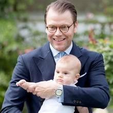 Prinz Daniel mit Prinz Oscar