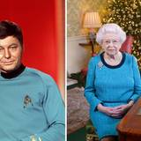 """Die Langzeitmonarchin erinnert in ihrem Outfit an den Arzt Dr. Leonard """"Pille"""" McCoy aus der Kultserie """"Star Trek""""."""