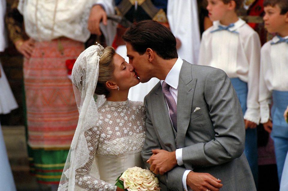 17. Juli 1995  Prinz Pavlos und Prinzessin Marie-Chantal von Griechenland