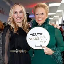 Barbara Schöneberger und GALA-Chefredakteurin Anne Meyer-Minnemann haben ein Faible für Stars.
