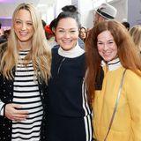So schön kann ein Branchentreff sein: Anna Lauerbach (Laurèl), Nicole Mrosek (Luisa Cerano) und Mila Perez (Pepe Jeans)