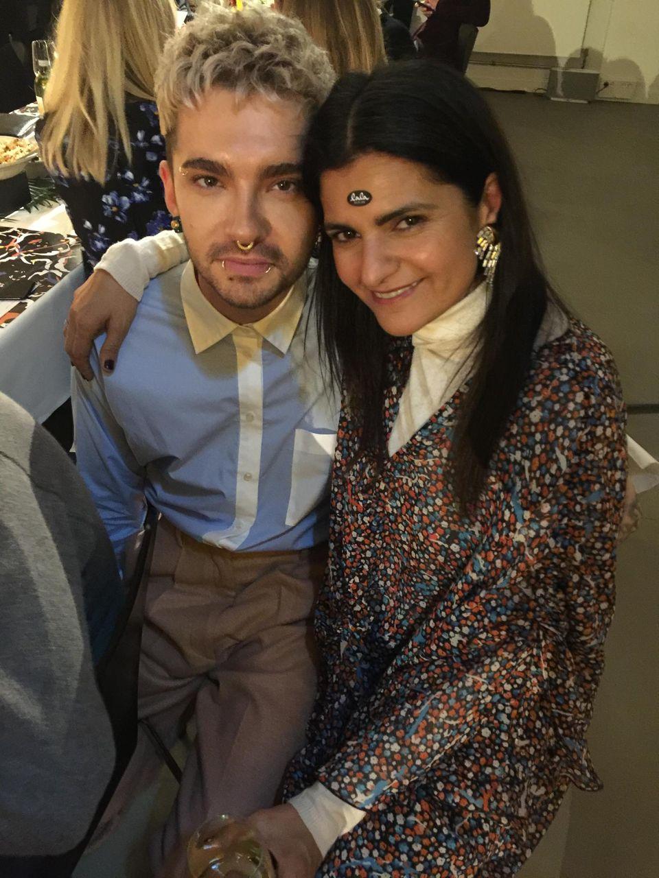 """Bill Kaulitz und Leyla Piedayesh, Gründerin des Modelabels """"Lala Berlin"""""""