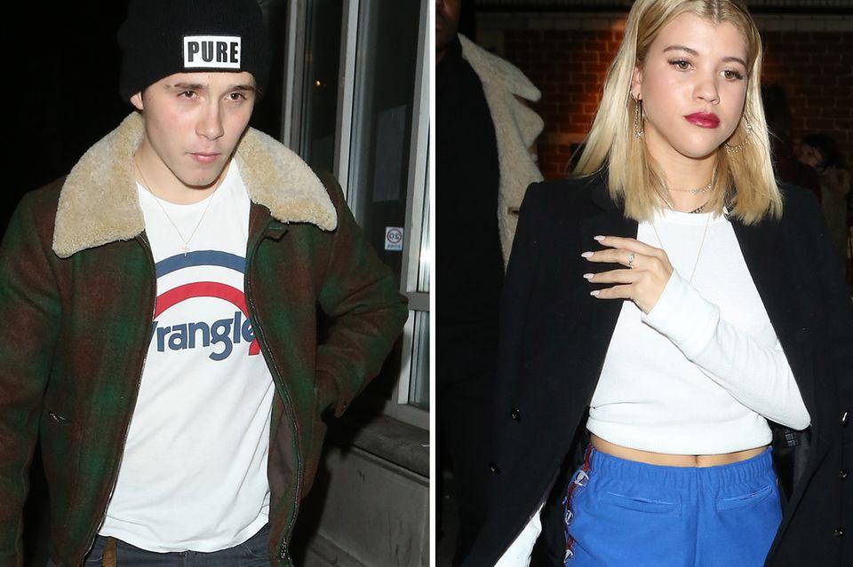 """Brooklyn Beckham und Sofia Richie treffen sich am Donnerstagabend in der Londoner """"Bloomsbury Bowling""""-Bar in London"""