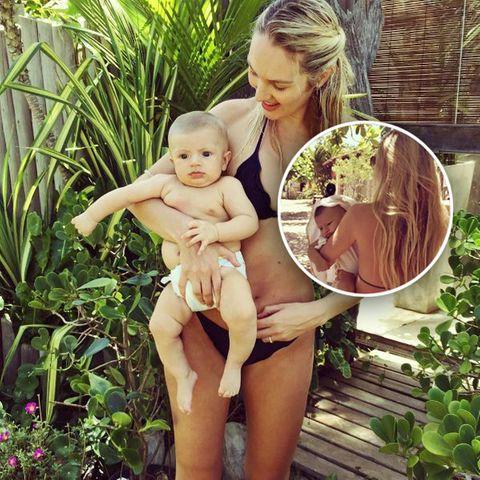 Candice Swanepoel + Söhnchen Anacã