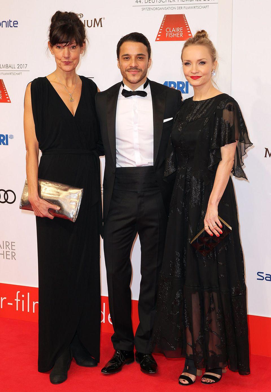 Noch mehr Schwarz! Produzentin Tanja Ziegler, Kostja Ullmann mit seiner Frau Janin