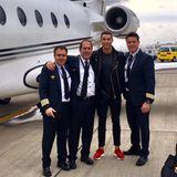 Sein Piloten-Team: Cristiano Ronaldo ist ein Vielreisender und hat noch dazu das nötige Kleingeld, um sich eine Privat-Flotte zu leisten.