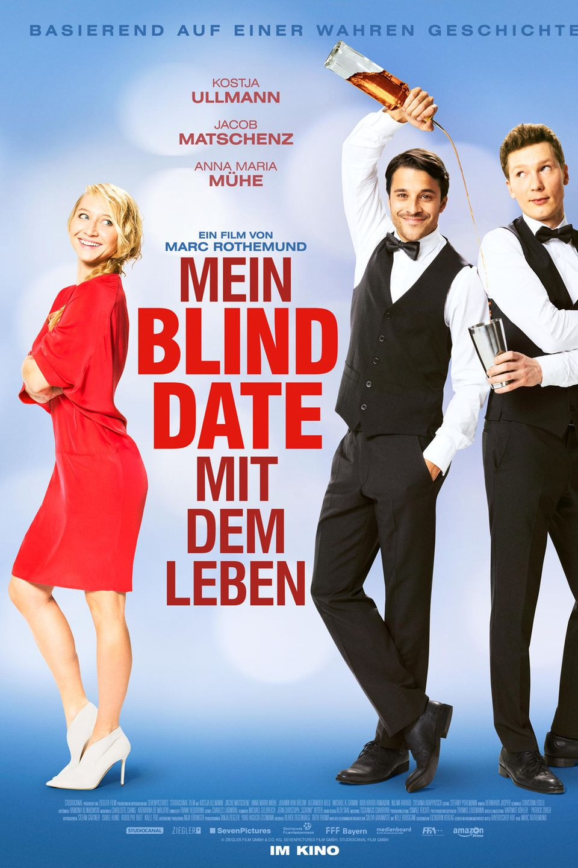 """Die Komödie """"Mein Blind Date mit dem Leben"""" mit Kostja Ullmann, Jacob Matschenz und Anna Maria Mühekommt am 26. Januar in die deutschen Kinos."""
