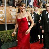 Jennifer Garner bezauberte bei den Screen Actors Guild Awards 2004 in roter Seide.