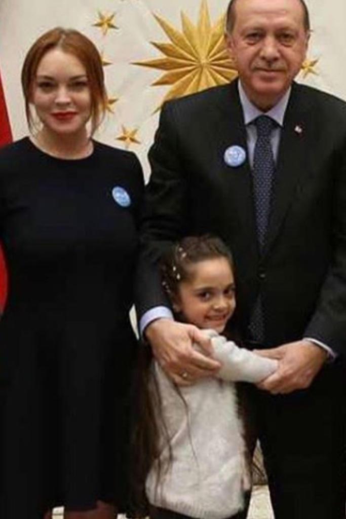 Lindsay Lohan beim türkischen Staatschef Recep Tayyip Erdogan
