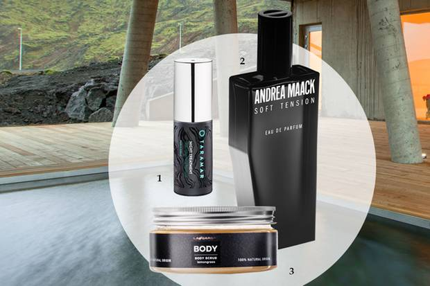 "1. ""Night Treatment"" von Taramar, 30 ml, ca. 97 Euro, dutyfree.is; 2. ""Dual""-EdP von Andrea Maack, 50 ml, ca. 98 Euro, ausliebezumduft.de; 3. ""Body Scrub"" von Face, ca. 58 Euro, worldclass.is"