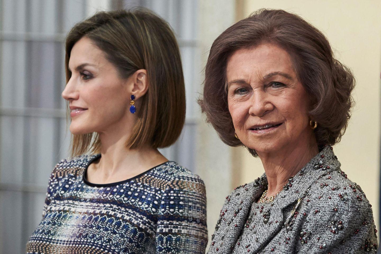 Königin Letizia und Königin Sofía
