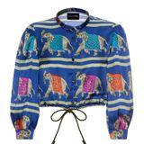 Ein Elefant kommt selten allein. Bauchfreie Bluse von Emporio Armani