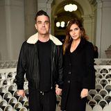 Stars im gemütlichen Schlabberlook: Robbie Williams und Ayda Fieldbei der David Hockney Ausstellungs-Eröffnung in der Tate Britain in London.