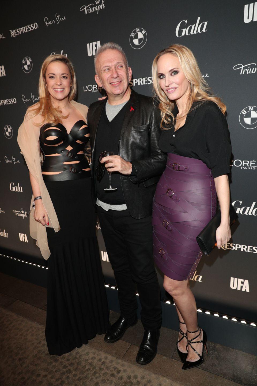 Designerin Marina Hoermanseder, Modeschöpfer Jean-Paul Gaultier und GALA-Chefredakteurin Anne Meyer-Minnemann bei der Berlin Opening Night.