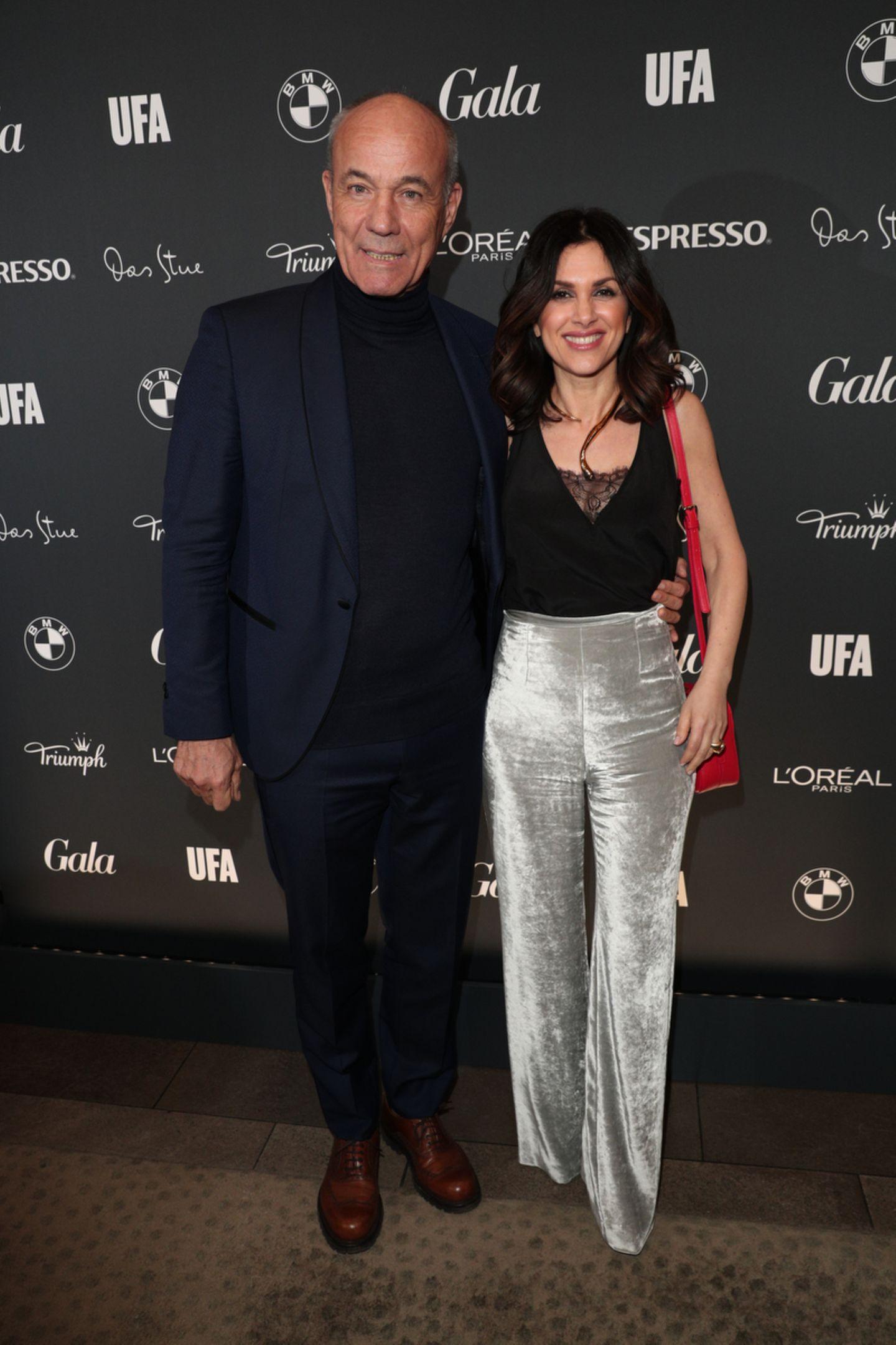 Heiner Lauterbach kommt mit seiner Frau Viktoria zur Veranstaltung.