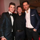 Die Herren Patrick Moelleken, Bruno Eyron und Alexander Mazza haben einen fantastischen Abend bei der Opening Night in Berlin.