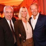 Hans-Reiner Schröder (BMW, l.), Tina Maria Werner und Christoph von Tschirschnitz (BMW) bei der GALA Opening Night.