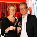 Kathrin Wirz (Pommery) und Frank Thomsen (G+J) sind auch mit dabei.