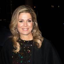 Königin Máximas Augen funkeln mit ihrem Pailletten-Kleid von Nina Ricci um die Wette. In diesem Look ist sie wirklich der Hingucker des Abends...