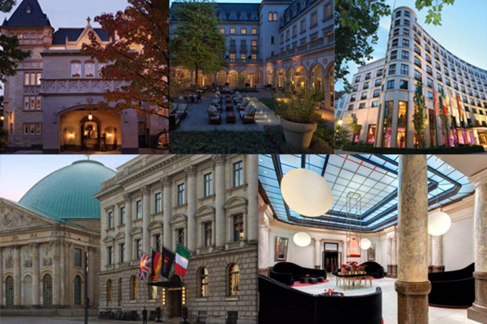"""Aus diesen drei Hotels -""""Hotel de Rome"""" in Berlin, """"Villa Kennedy"""" in Frankfurt oder """"The Charles Hotel"""" in München - können Sie wählen."""