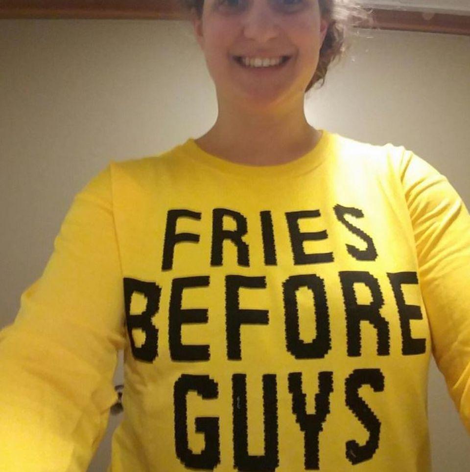 Erst Pommes, dann Männer: Amy Schumers Statement ist eindeutig.