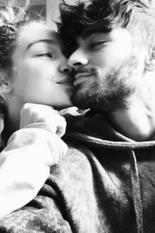 Supermodel Gigi Hadid postet ein inniges Foto von ihr und Freund Zayn Malik.