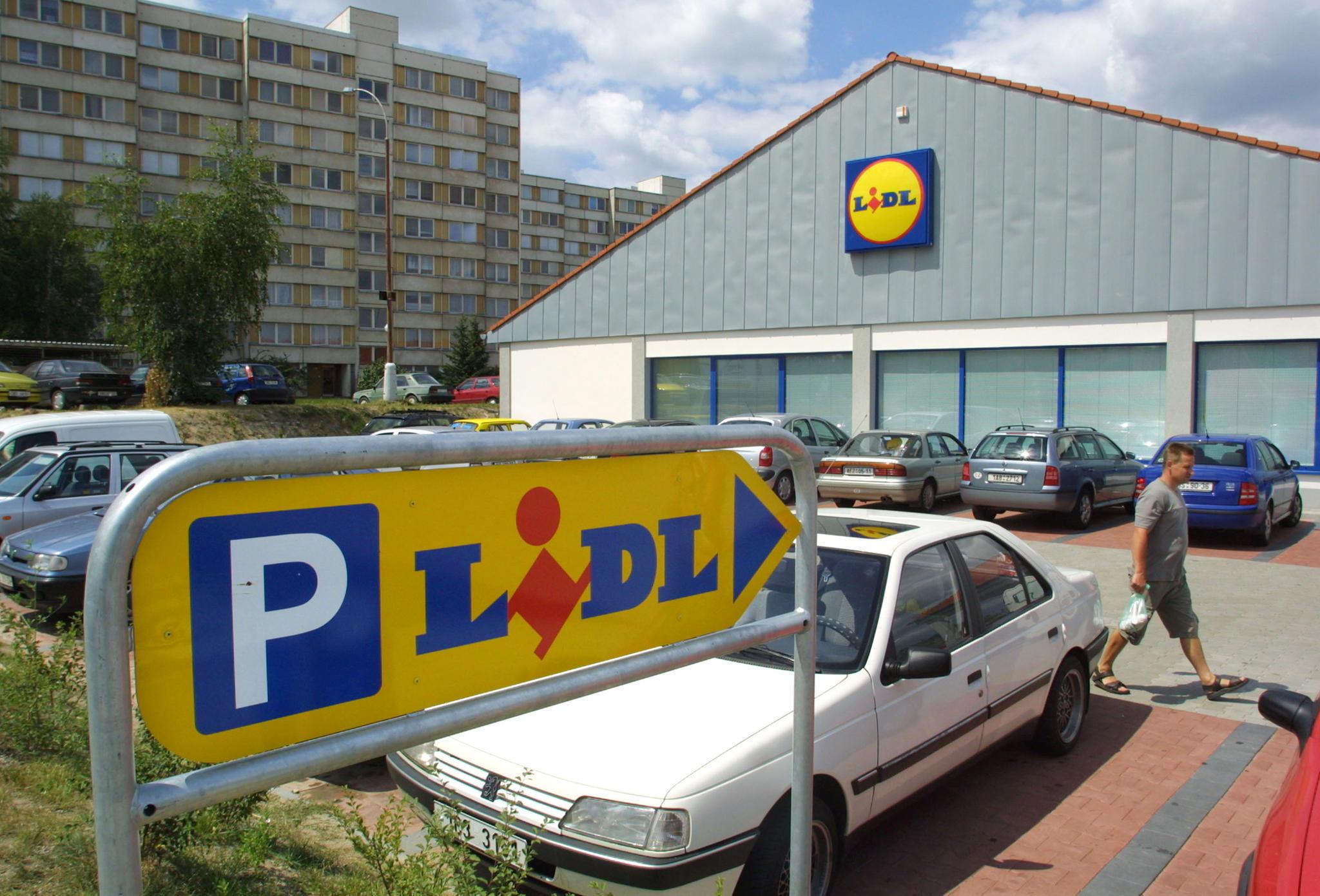 Parkplatz bei Lidl