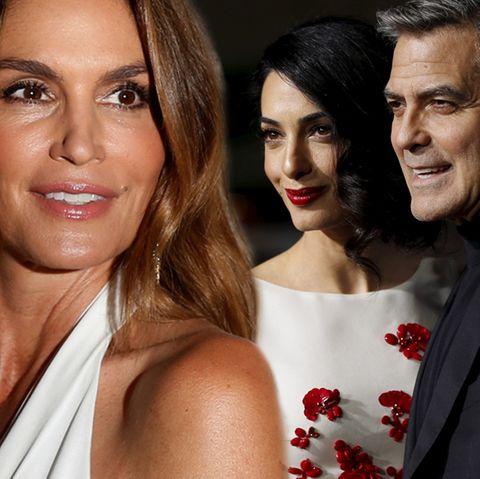 Cindy Crawford, Amal Clooney, George Clooney