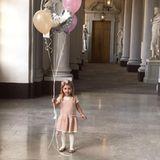 20. Februar 2017  Mit Ballons im Palast: Prinzessin Leonore, Tochter von Madeleine von Schweden feiert ihren dritten Geburtstag.