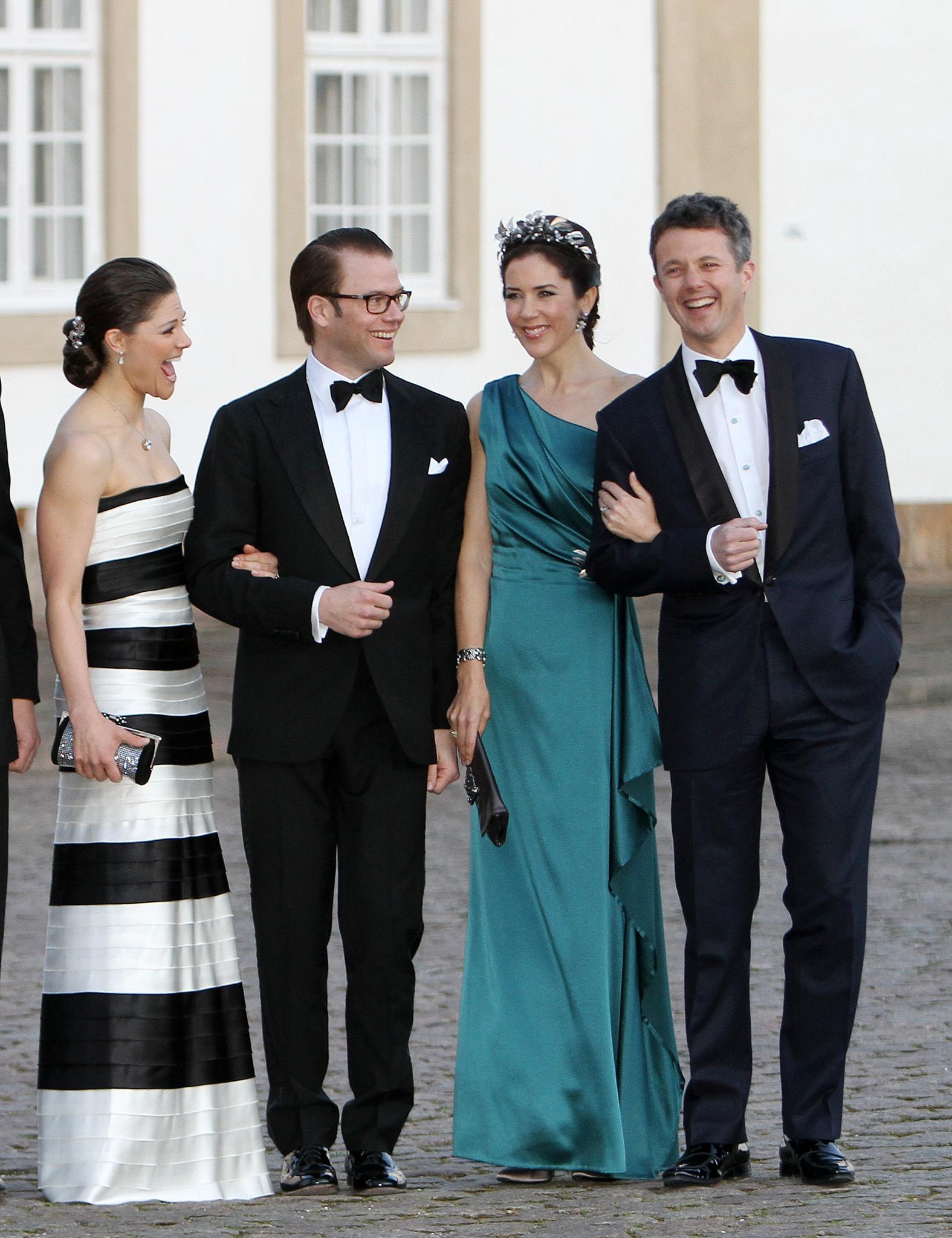 Prinzessin Victoria, Prinz Daniel, Prinzessin Mary + Prinz Frederik