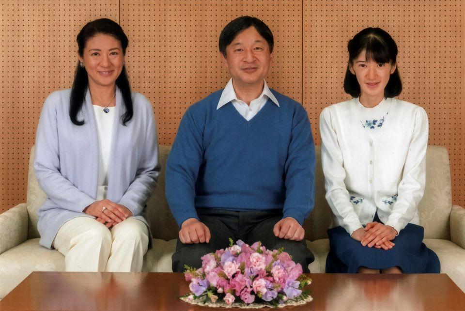 Die japanische Königsfamilie am 12. Februar 2017