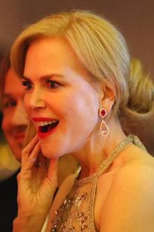 Schauspielerin Nicole Kidman ist an diesem Abend bester Laune.