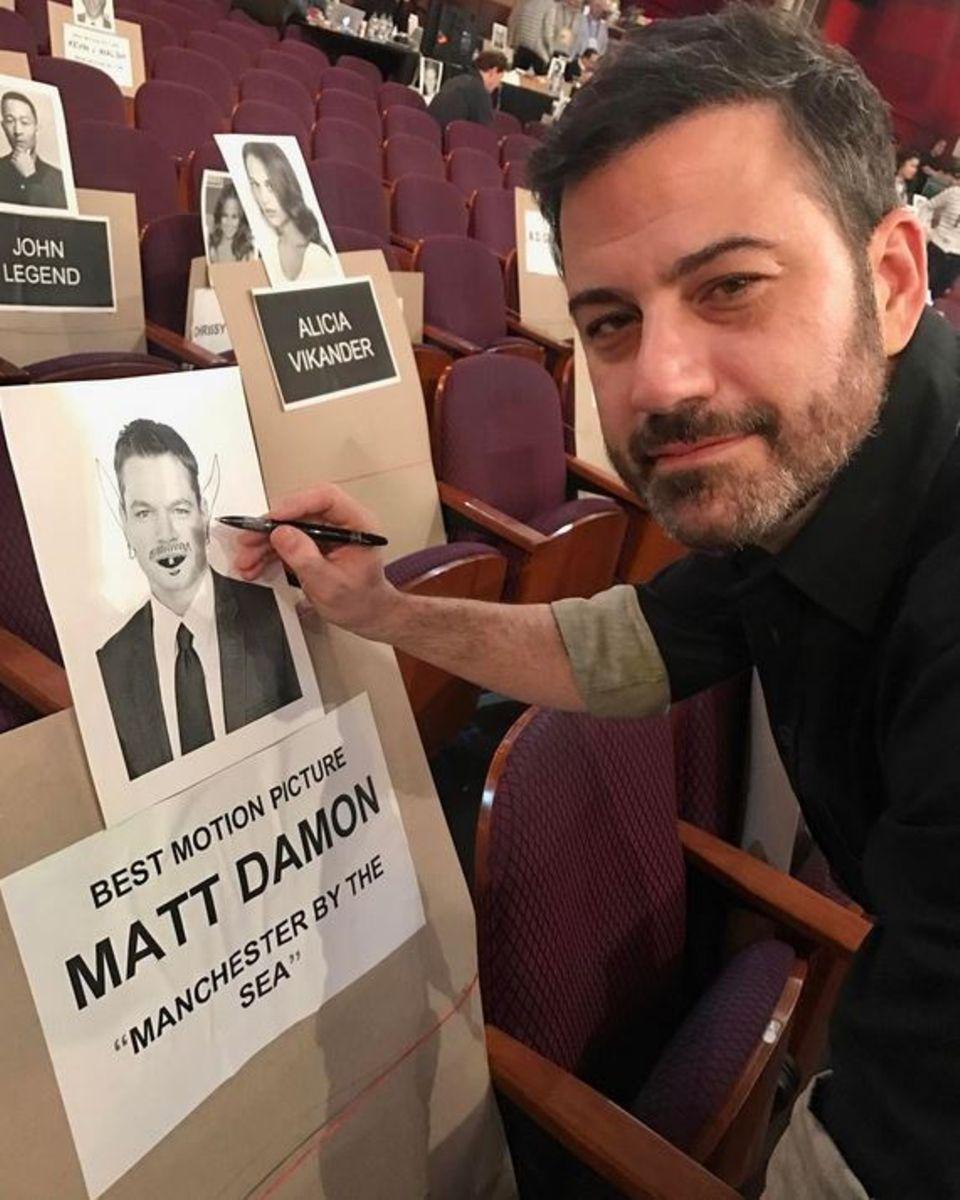 Jimmy Kimmel nutzt jede Gelegenheit um Matt Damon zu ärgern.