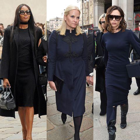 Victoria Beckham, Prinzessin Mette-Marit und Co. besuchen die Trauerfeier für die kürzlich verstorbenen Chefredakteurin der italienischen Vogue Franca Sozzani.