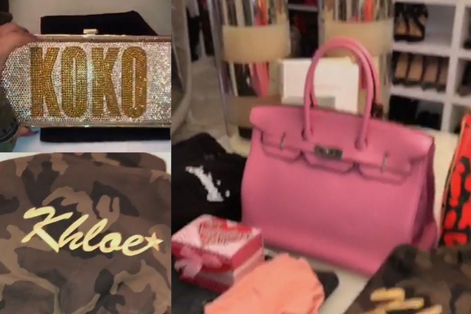 Khloé Kardashian zeigt die Unmengen an Geschenken, die nach dem Urlaub auf sie warten.