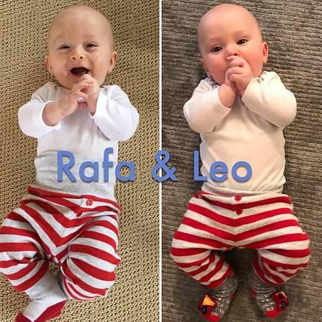 28. Februar 2017  Nein, es ist nicht das selbe Kind, nur auf einem anderen Untergrund. Es sind die Geschwister Rafael und Leonardo, beide im gleichen Alter fotografiert worden, nur das Rafa heute fast zwei Jahre alt ist.