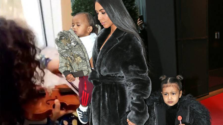 Saint West, Kim Kardashian, North West